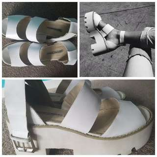 Windsor Smith - White Chunky Pump Platforms - Size 7