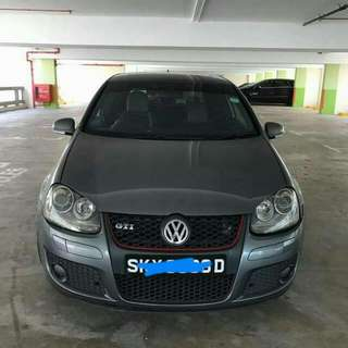 WV GOLF GTI SUNROOF 2.0 TURBO TIP TOP CONDTION (BEST PRICE IN TOWN) (SGPORE SCRAP CAR)