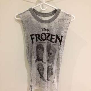 Forever 21 Frozen Grey Deep-Cut Tank Top