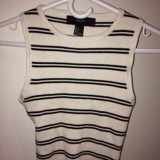 Forever 21 Striped Knit Tank Top
