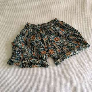 Cute Bali print sleep shorts
