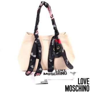 Moschino Love貓咪絲巾包