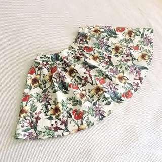 Cute vintage floral print circle skirt