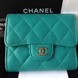 Chanel Wallet Turquoise Green