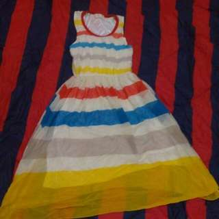 Dress Motif Salur Import