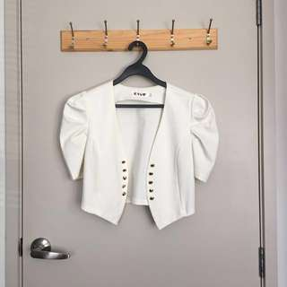 White blazer/cardigan