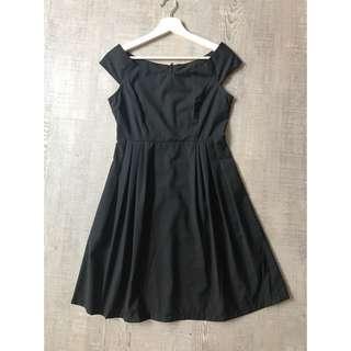 Monochrome Black And White Shoulder Dress