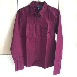 F21 maroon shirt