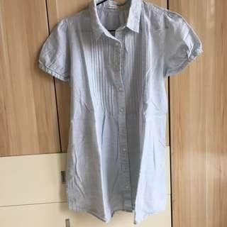 No brand light blue blouse