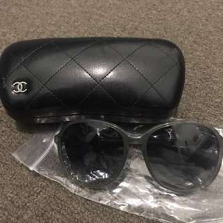 Chanel Oversized Round Gray Sunnies