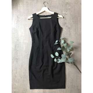 Black Office Structured Dress