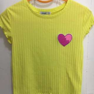 Cropped Tee Size M