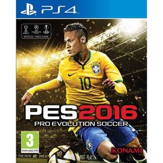 PES 2016 proevolution soccer for PS4