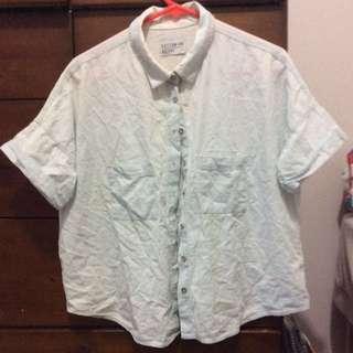 Light blue button up shirt