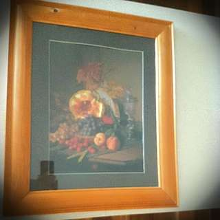 Fruit Picture In Wooden Frame