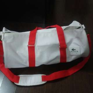 Lacoste Gym Bag - Red & White