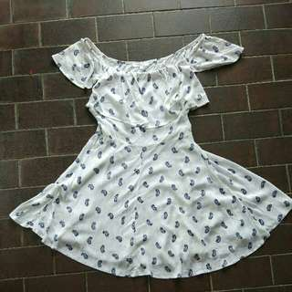 Cotton On White Paisley Dress