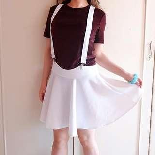 White Pinafore Skirt
