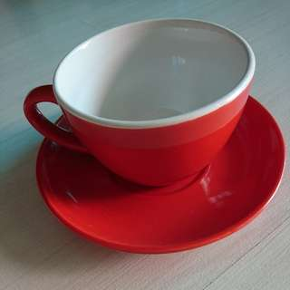 Nescafe Red Coffee Cup With Saucer