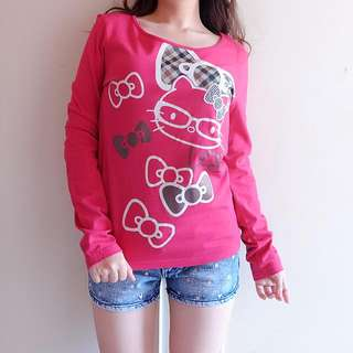 Hello Kitty Top Lengan Panjang