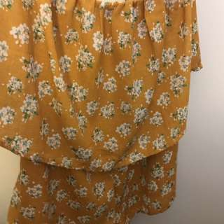 Mustard Shorts Playsuit size 8-10 small make L