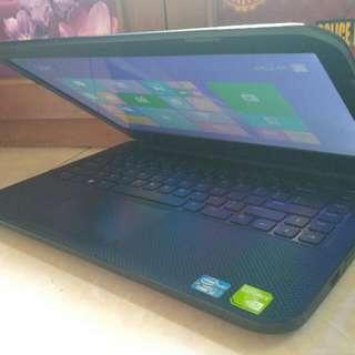Laptop Slim Dell 3421 Core i3 Ivybridge Dual VGA gaming