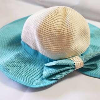 全新 藍白草帽