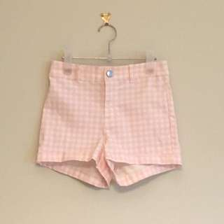 H&M Gingham check shorts size 6