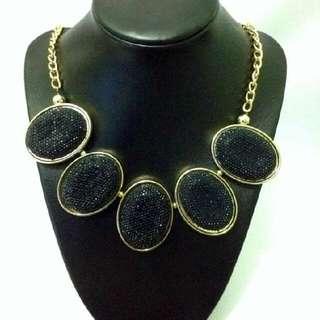 Black Statement Fashion Necklace