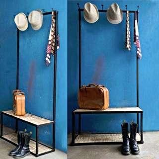 Industrial Vintage Entryway Coat Rack