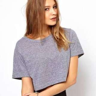 American Apparel loose cropped tee - one size