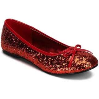 Funtasma rockabilly red glitter flats