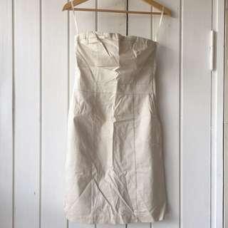 H&M Khaki Tube Dress
