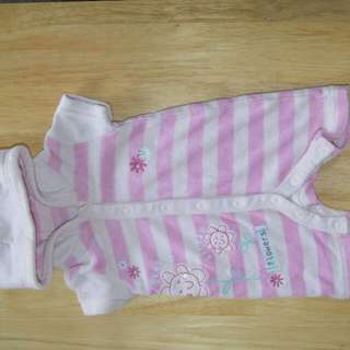 MOTHERCARE used woolen romper with hoodie