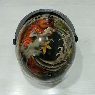Tattoo airbrush helmet
