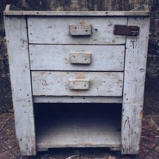 //ORI DECO工業風老件// 美國帶回 早期手工訂製木櫃 復古老漆面