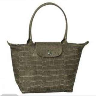 LONGCHAMP Le Pliage Croc-Print Medium Tote Bag