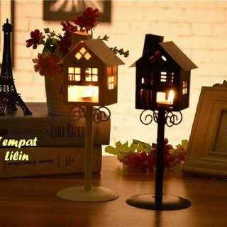 Tempat Lilin Romantis Bentuk Rumah