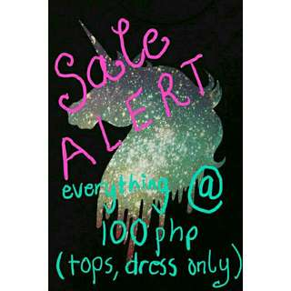 EVERYTHING @ 100php (Tops,dress) ❤💕