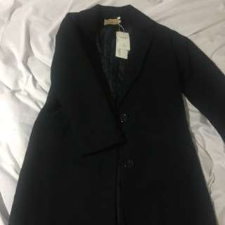Korean Black Long Coat