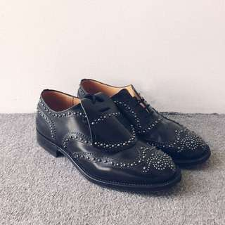 CHURCH'S Burwood Studded Brogues with Detachable Fringe