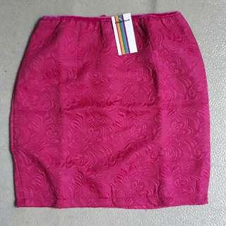 Emboss Skirt Fanta