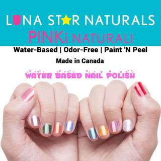 SHOPDGD - Pinki Naturali By Luna Star Naturals Water Based Nail Polishes - Made in Canada- Direct Import