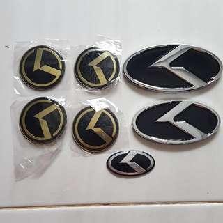 KIA K-logo Emblem Set (with free gift)