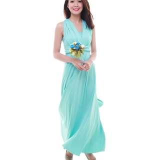 The Bmd Shop Cherie Convertible Maxi Dress (Sky Blue)