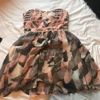 Strapless Short Dress