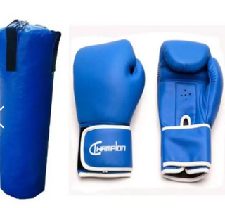 Punching Bag XL (Black) with 8oz Champion Boxing Gloves