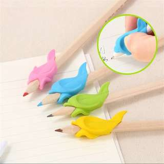 10pc Writing Posture Correction Device Dolphin Fish To Hold A Pen Correction Silicone Stationery Child Student