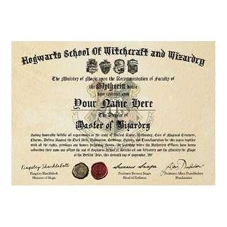 Hogwarts Diploma - Master Of Wizardry