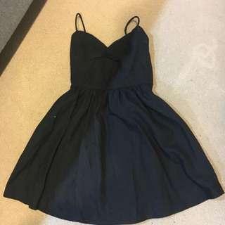American apparel cross back black dress replica